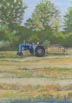 Blue Tractor (pastel, prints, note card)