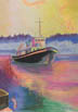 An American Tug (pastel, prints, note card)