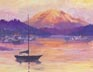 Harbor Sunset (oil, prints, note card)