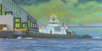When Tug Comes To Push - Daniel Foss (pastel, prints, note card, ACEO)
