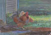 Chickens (pastel, prints, note card)