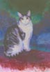 Sitting Pretty (pastel, prints, note card)