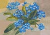 Forget-Me-Not (watercolor, prints,note card)