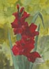 Deep Red Gladiolus (watercolor, prints, note card)