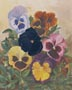 Peek-A-Boo Pansies (watercolor, prints, note card)