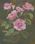 Pink Roses En Plein Air (oil, prints on paper and canvas)