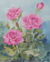 Pink Roses (watercolor, prints on paper and canvas)