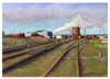 Railroad Tracks (pastel, print, note card)