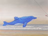 Blue Dolphin (pastel, prints on paper and canvas)