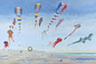 Kites Aloft (oil, prints, note card, ACEO, magnet)