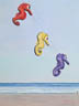 Seahorses In The Sky (pastel, prints on paper and canvas)