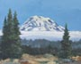Fog Coming Up (Mt. Rainier) (oil, prints on paper and canvas)