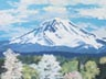 Mt. Rainier In Spring (oil, prints on paper and canvas)