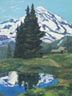 Mt Rainier Reflections (oil, prints on paper and canvas)