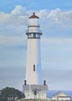 Pigeon Point Lighthouse (oil, prints on paper and canvas)