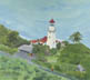 Diamond Head Lighthouse (oil, prints on paper and canvas)