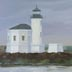Bandon Lighthouse (oil, prints on paper and canvas)