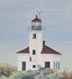 Cape Arago Lighthouse (oil, prints on paper and canvas)