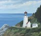 Heceta Head Lighhouse (oil, prints on paper and canvas)