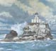 Tillamook Rock Lighthouse (oil, prints on paper and canvas)