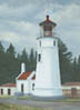 Umpqua River Lighthouse (oil, prints on paper and canvas)