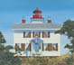 Yaquina Bay Lighthouse (oil, prints on paper and canvas)