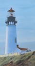 Yaquina Head Lighthouse (oil, prints on paper and canvas)