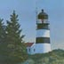 Cape Disappointment Light Station (oil, prints on paper and canvas)