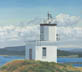 Cattle Point Lighthouse (oil, prints on paper and canvas)