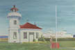 Ferry At Mukilteo Lighthouse (gouache, prints, note card)
