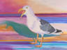 Squawking Gull (pastel, prints, note card, ACEO, magnet)
