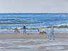 A Good Day For Clamming (pastel, prints on paper and canvas)