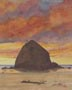 Cannon Beach Sunset (watercolor, prints, note card)