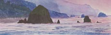 From Ecola At Sunset (watercolor, prints, note card)